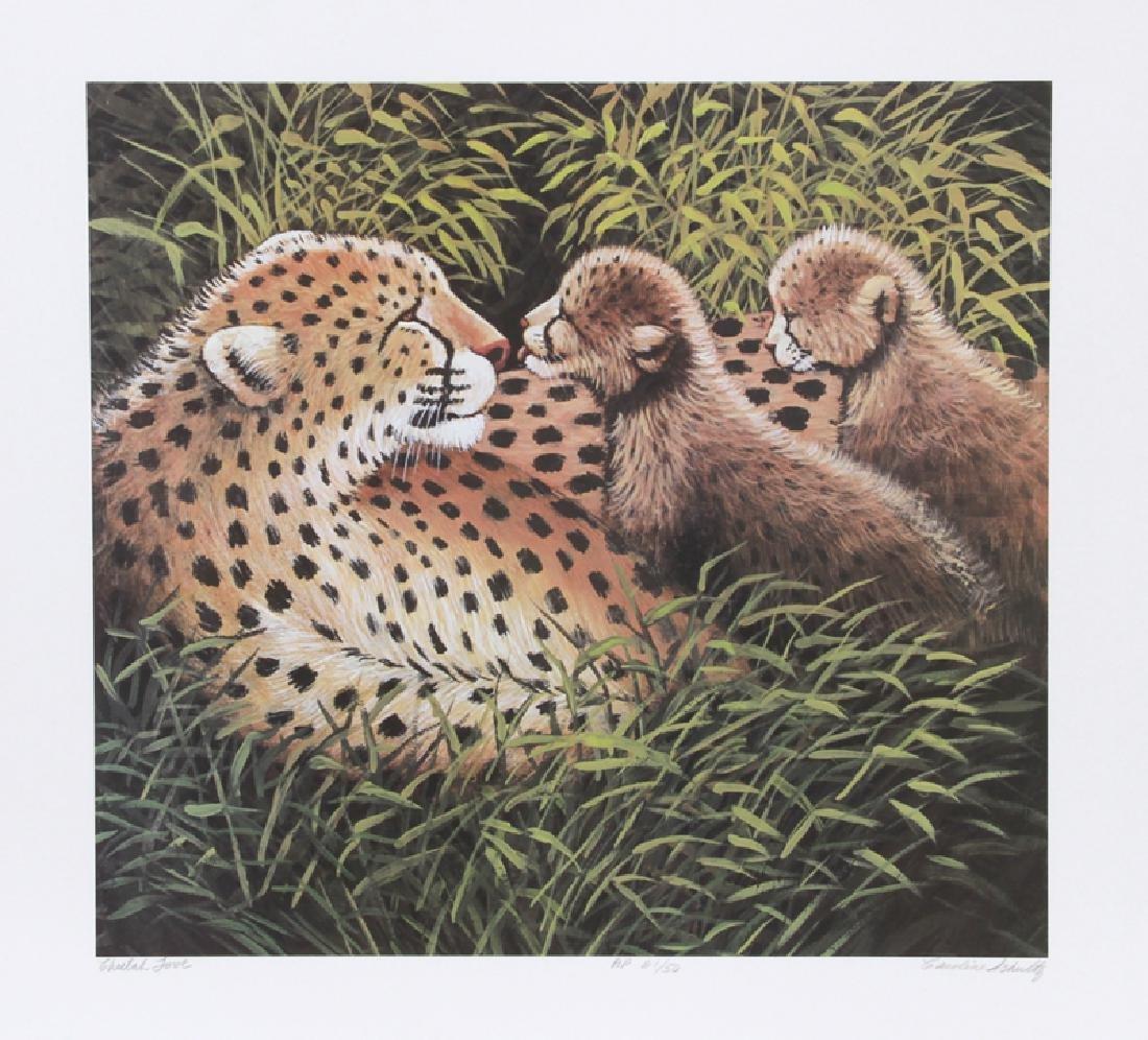 Caroline Schultz, Cheetah Love, Lithograph,