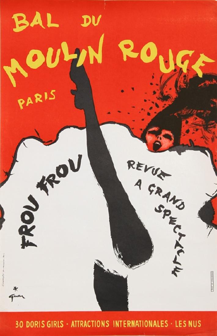 Rene Gruau, Bal du Moulin Rouge, Paris (Frou Frou),