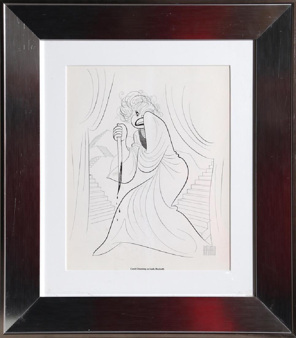 Al Hirschfeld, Carol Channing as Lady MacBeth, Offset