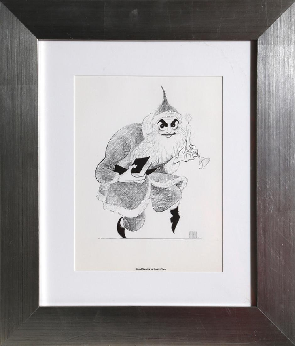 Al Hirschfeld, David Merrick as Santa Claus, Offset
