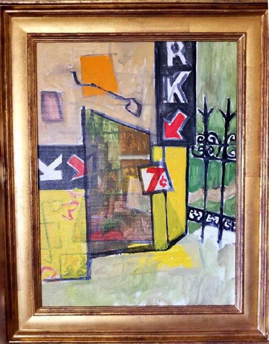 Joseph Solman, Garage, Oil Painting
