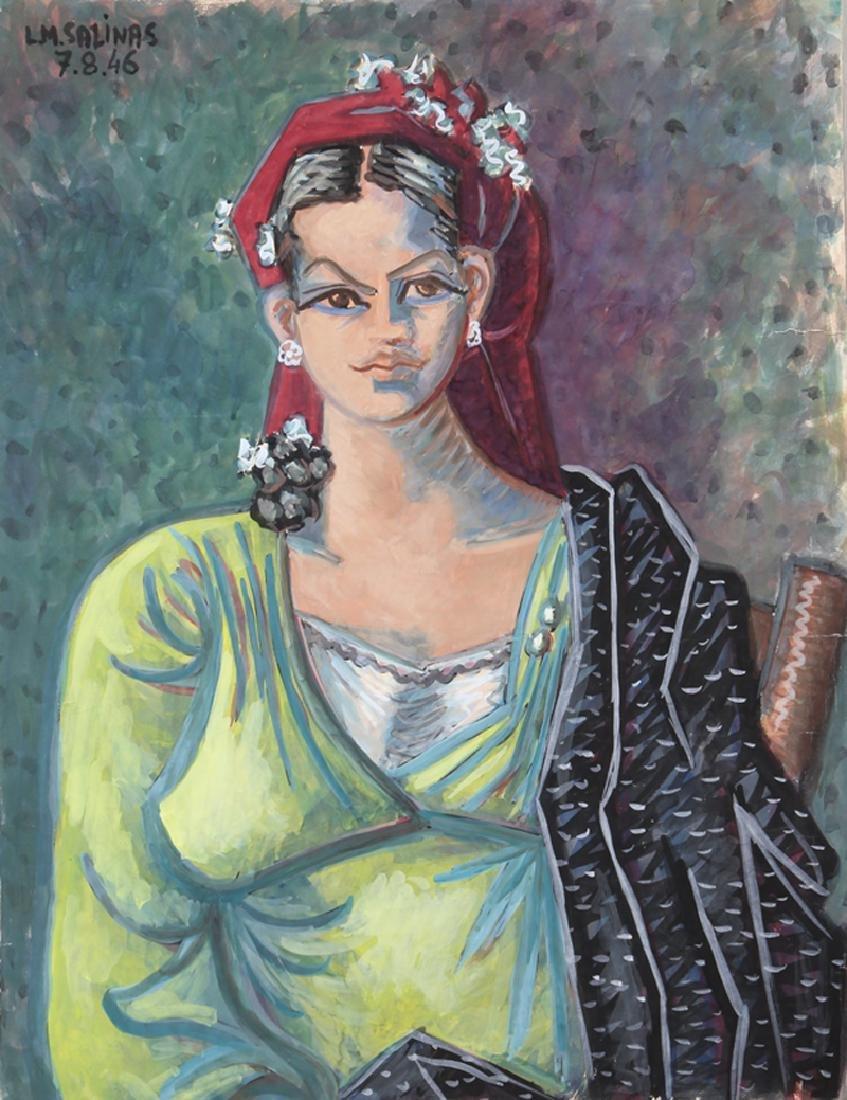 Laurent Marcel Salinas, Portrait of Woman in Green,