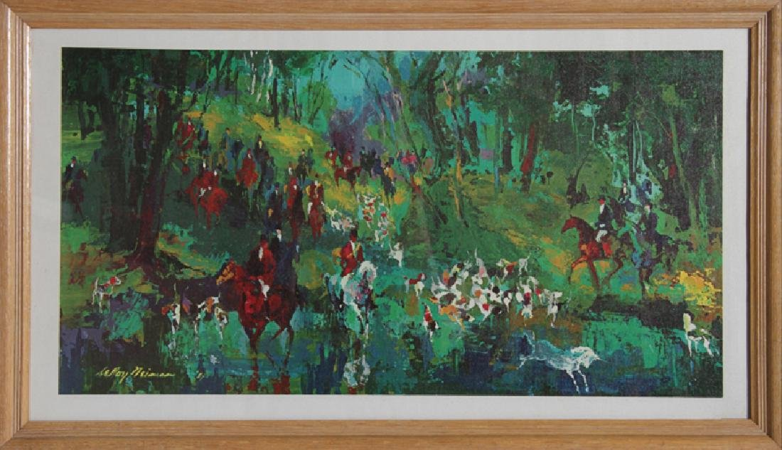 LeRoy Neiman, Hunt of the Unicorn, Canvas Transfer
