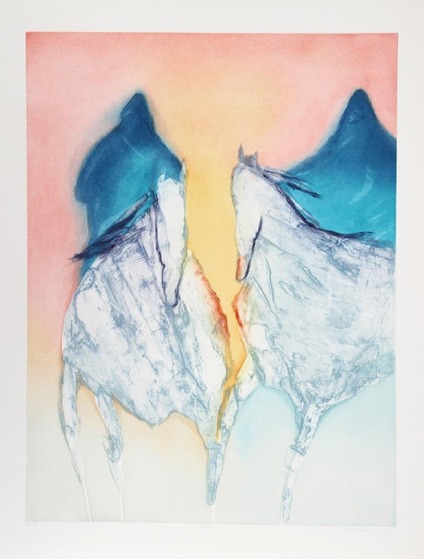 Jean Richardson, Aura, Aquatint Etching,