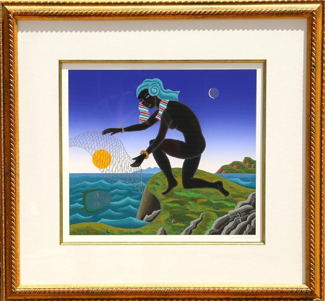 Thomas McKnight, Nubian Fisherman, Serigraph,