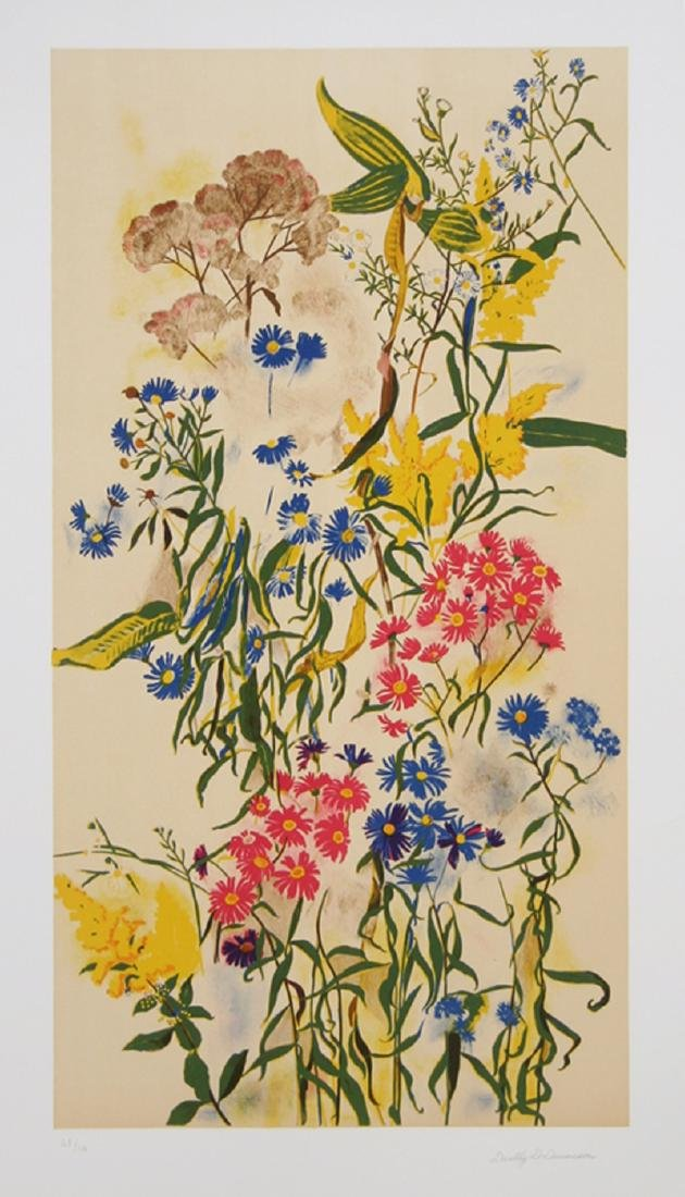 Dorothy Dell Dennison, Wild Asters, Lithograph,