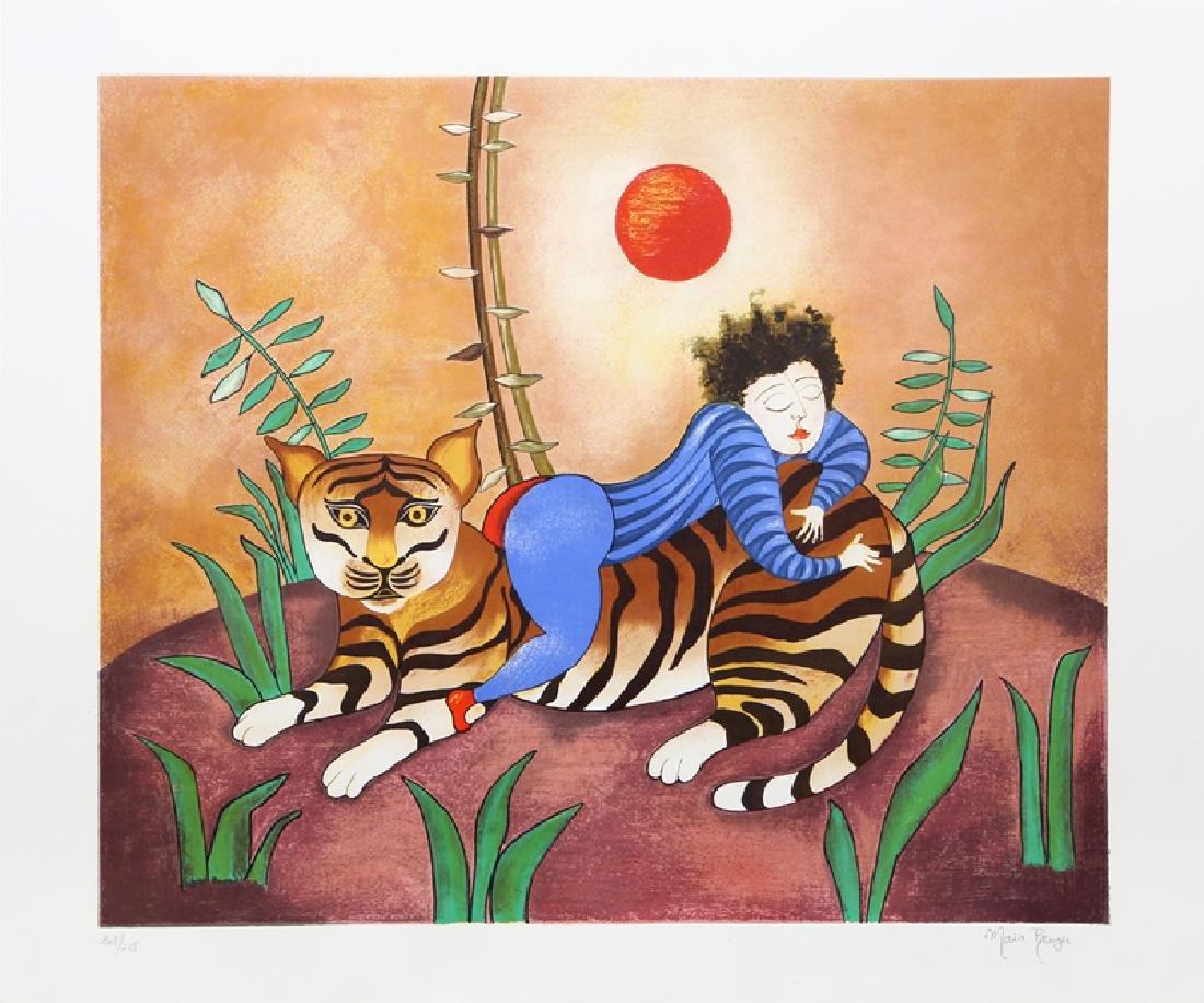 Maia Berger, Le Tigre, Serigraph,