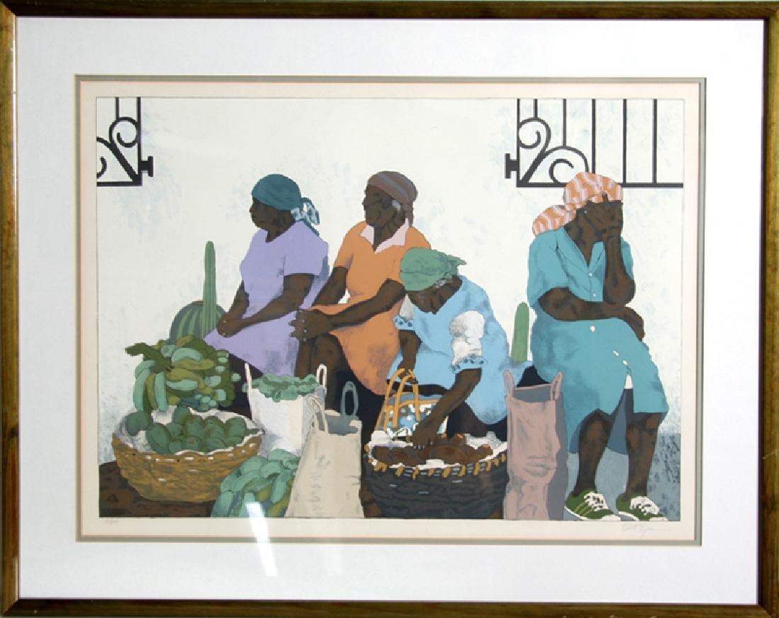 Robert Lider, Market Day, Lithograph,