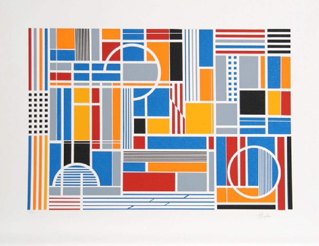 Gisela Beker, Labyrinth, Serigraph,