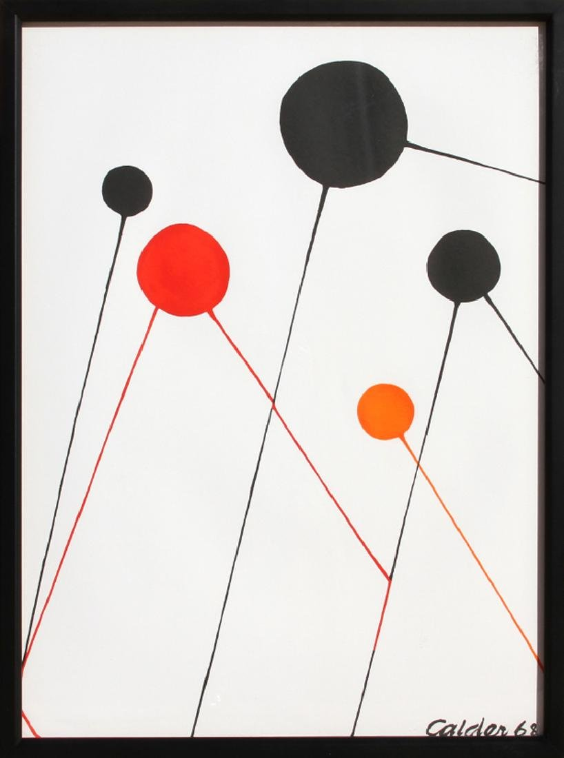 Alexander Calder, Balloons, Lithograph, signed in the