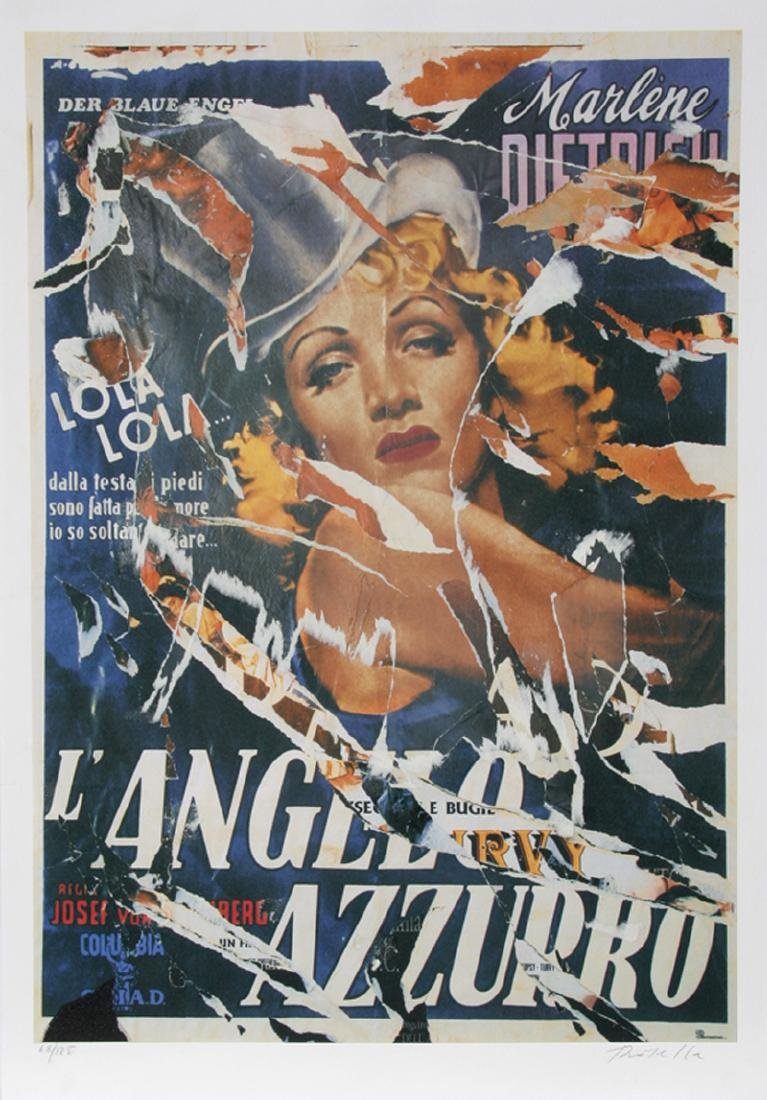 Mimmo Rotella, Made to Order Love (Marlene Dietrich),