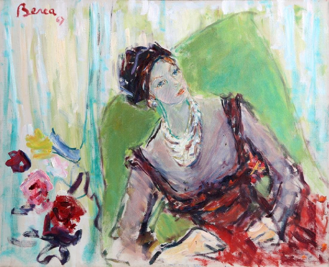 Dimitrie Berea, Arlene Dahl, Beverly Hills, Oil