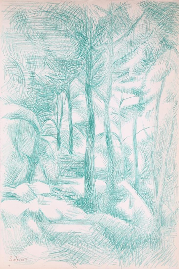 Laurent Marcel Salinas, Forest (Green) 356, Crayon  ,