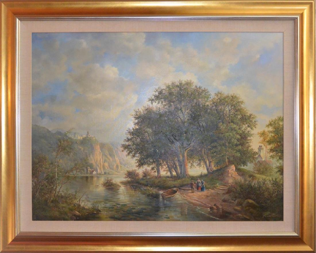 Eleonore Guinther, Untitled, Oil Painting, signed l.r.