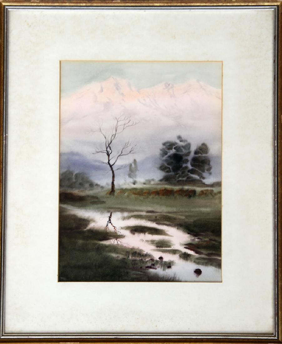 Mariano Ortuzar, Mountain Brook, Watercolor