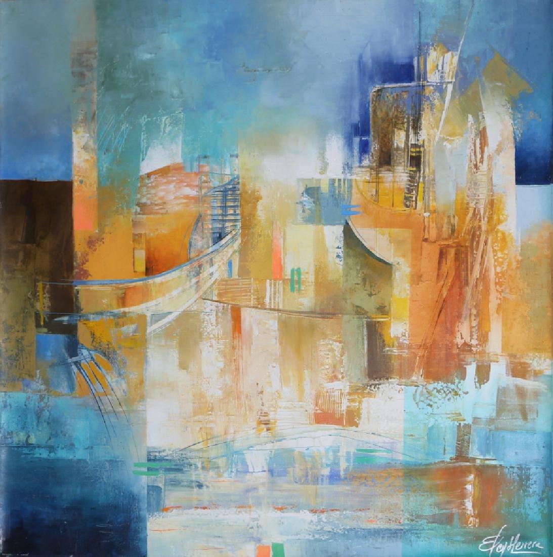 Elcy Herrera Pinzon, Light City, Acrylic and Oil