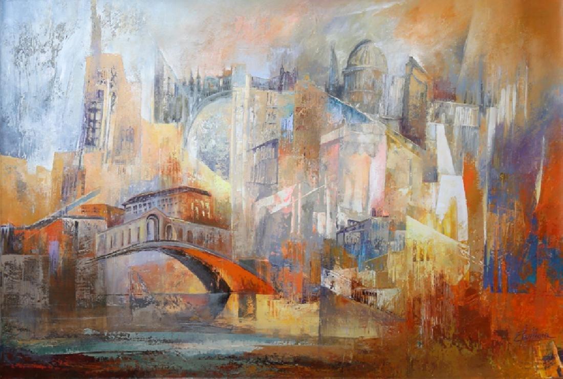 Elcy Herrera Pinzon, Venecia, Acrylic and Oil Painting,