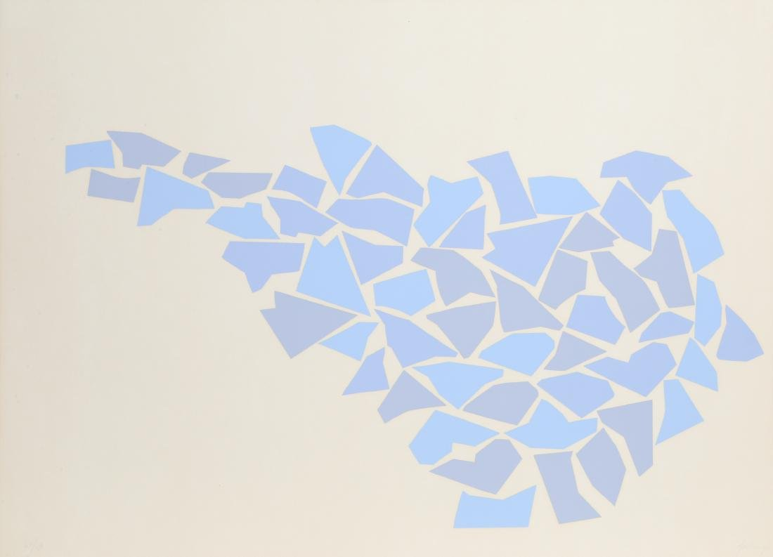 Robert Goodnough, Untitled - Blue, Screenprint,