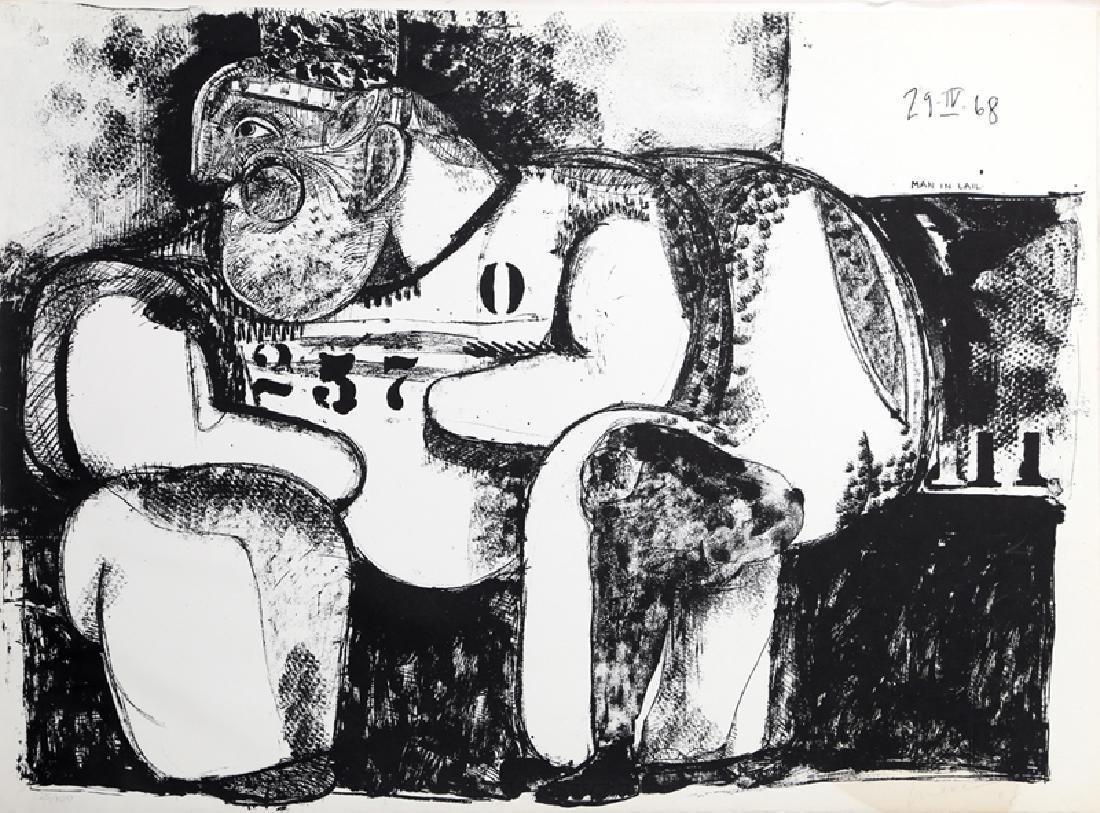 Jose Luis Cuevas, Man in Jail, Lithograph,