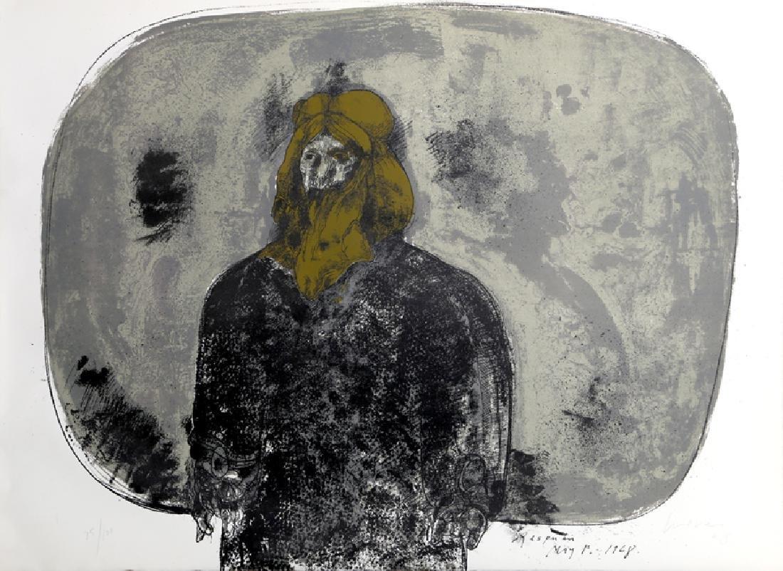 Jose Luis Cuevas, Rasputin, Lithograph,