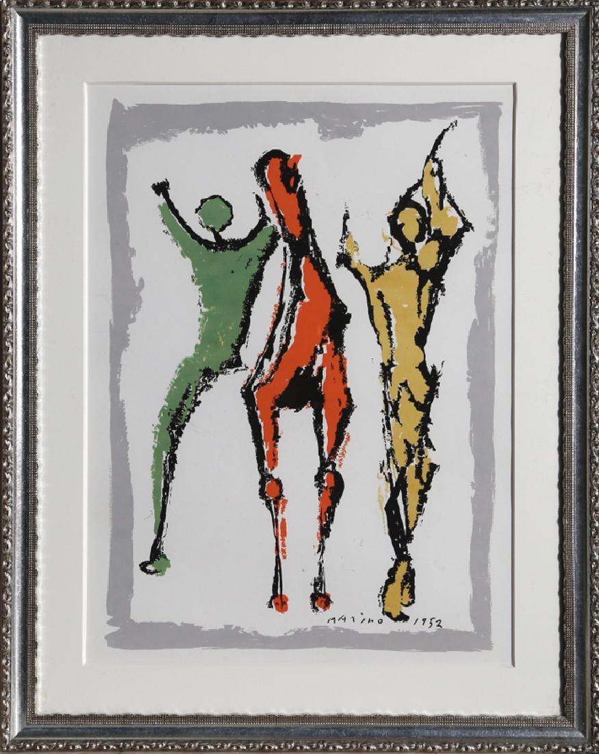 Marino Marini, Two Figures and a Horse , Silkscreen