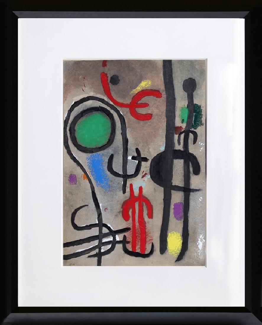 Joan Miro, Cartones 23: Femme Oiseau dans la Nuit,