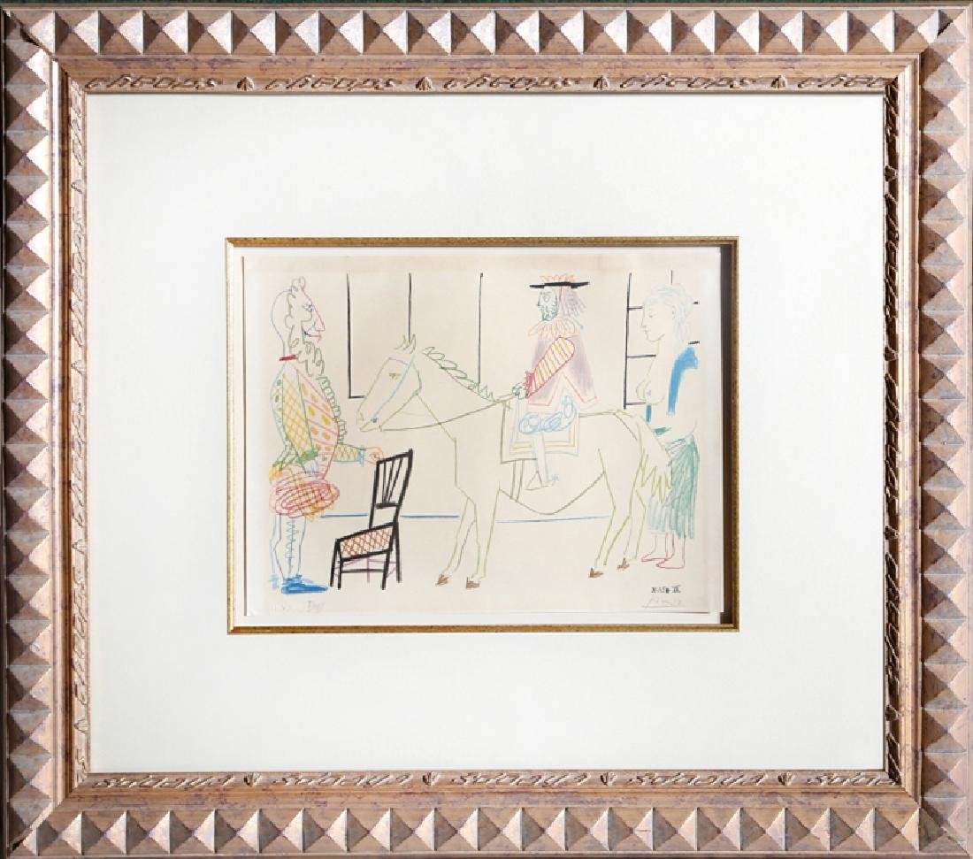 Pablo Picasso, Man on Horse from Comedie Humaine Suite,