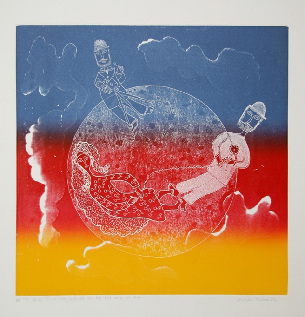 Mireille Kramer, Love Around the World, Aquatint
