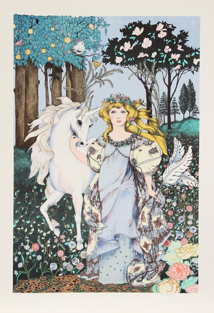 Jennie 'Gina' Tomao Stephanopoulos, Girl with Unicorn,