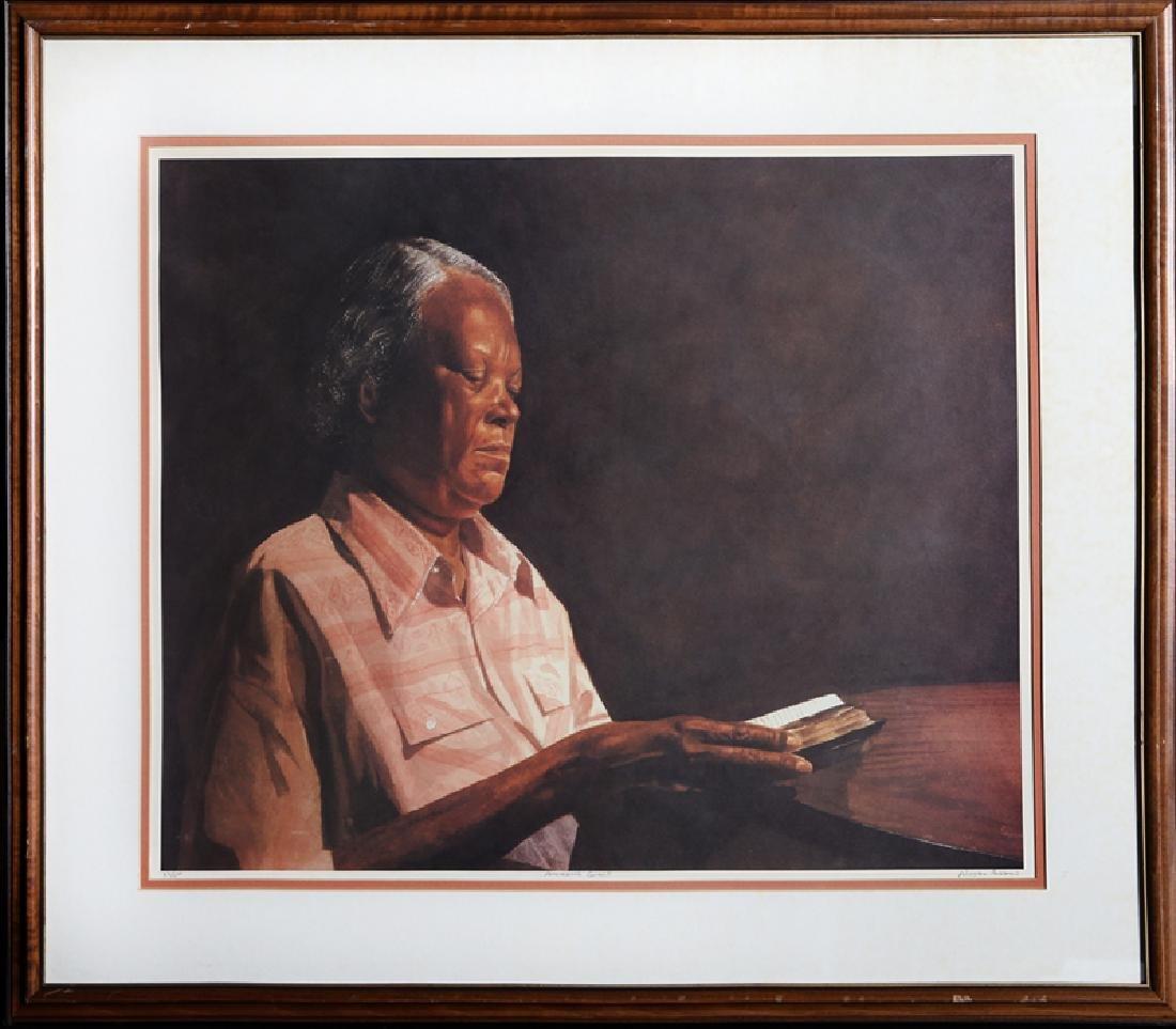 Alonzo Adams, Amazing Grace, Lithograph,