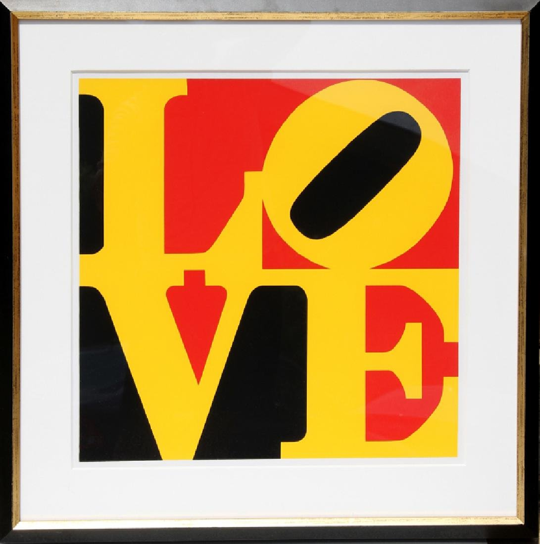 Robert Indiana, The German LOVE, Serigraph