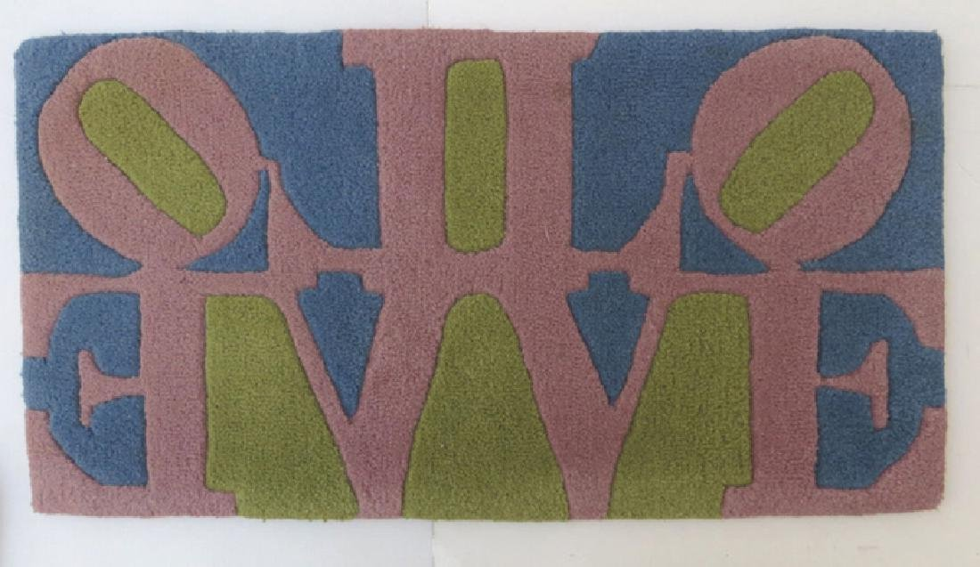 Robert Indiana, Rose LOVE (Reflection), Wool Tufted Rug