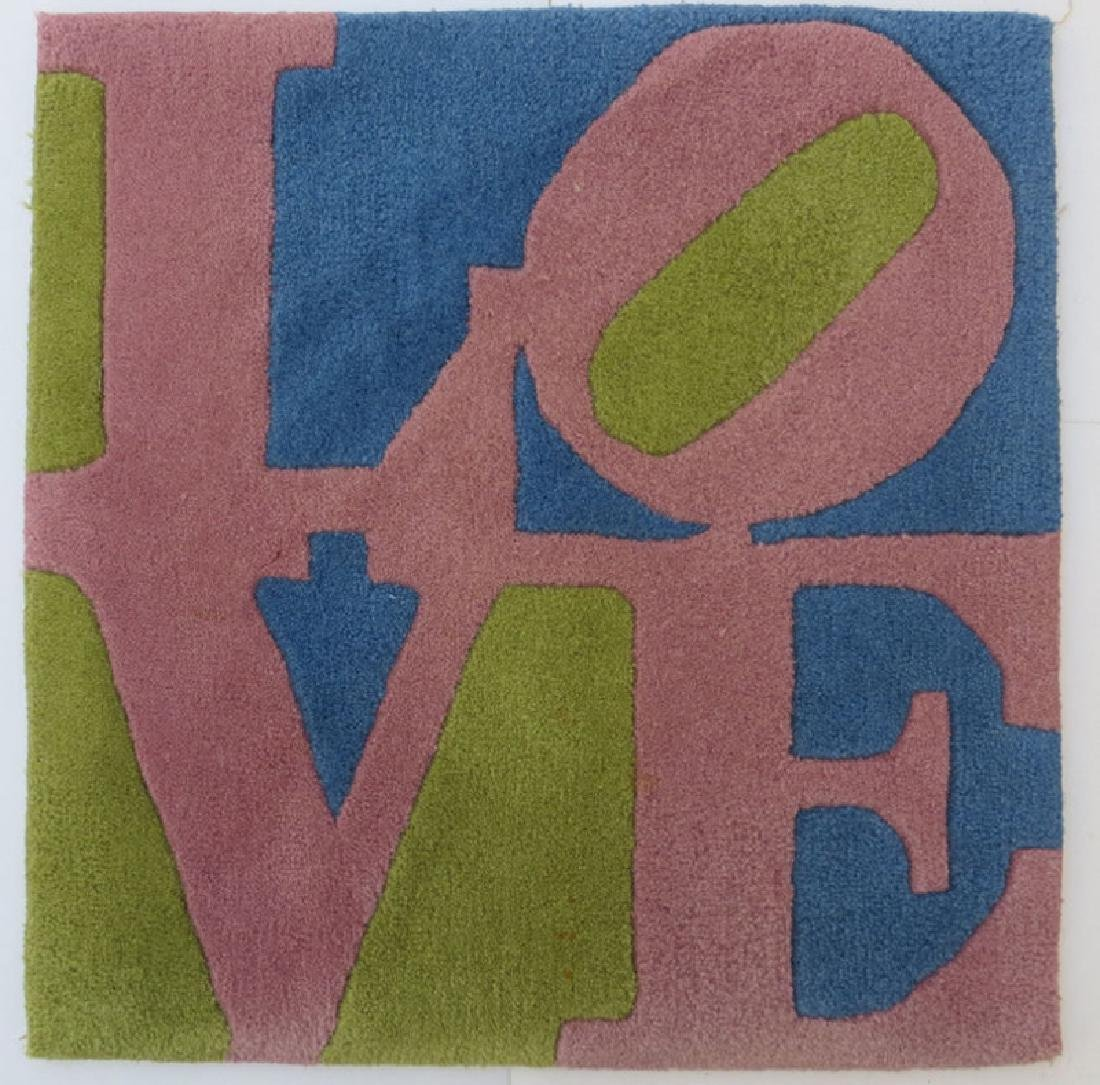 Robert Indiana, Rose LOVE, Wool Tufted Rug by Master