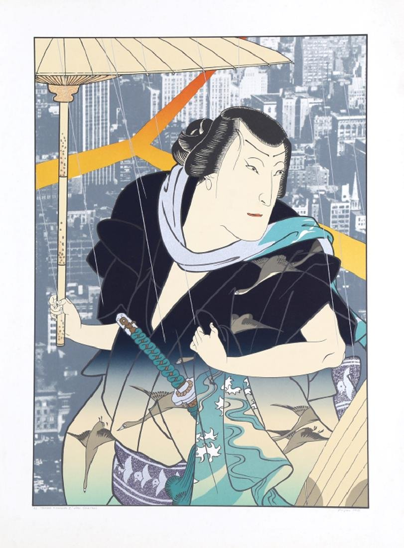 Michael Knigin, Thunder and Shower I (after Yoshitaki),