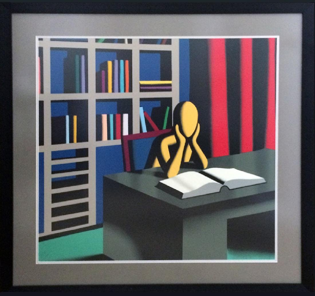 Mark Kostabi, Useless Knowledge, Silkscreen,