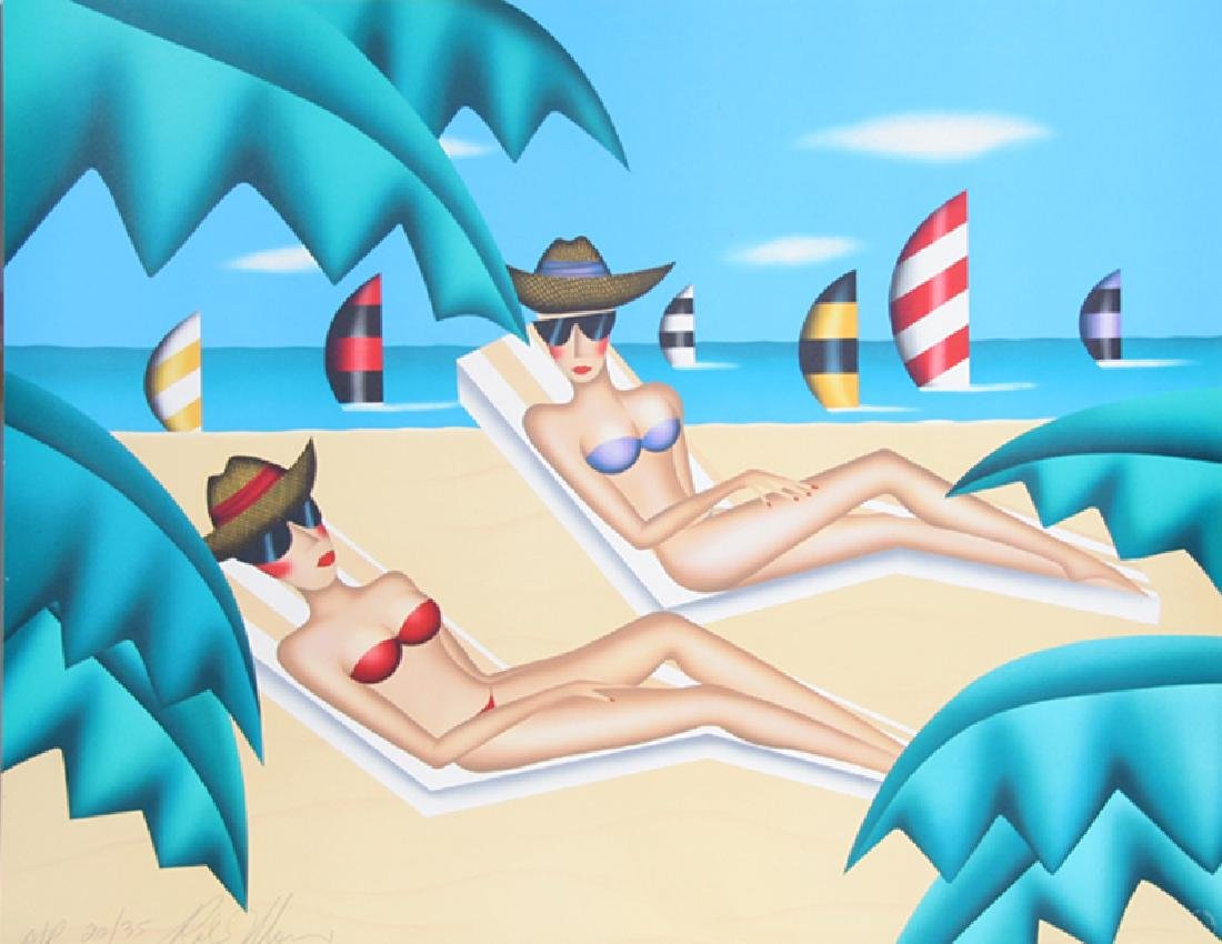 Robin Morris, The Sunbathers, Screenprint,