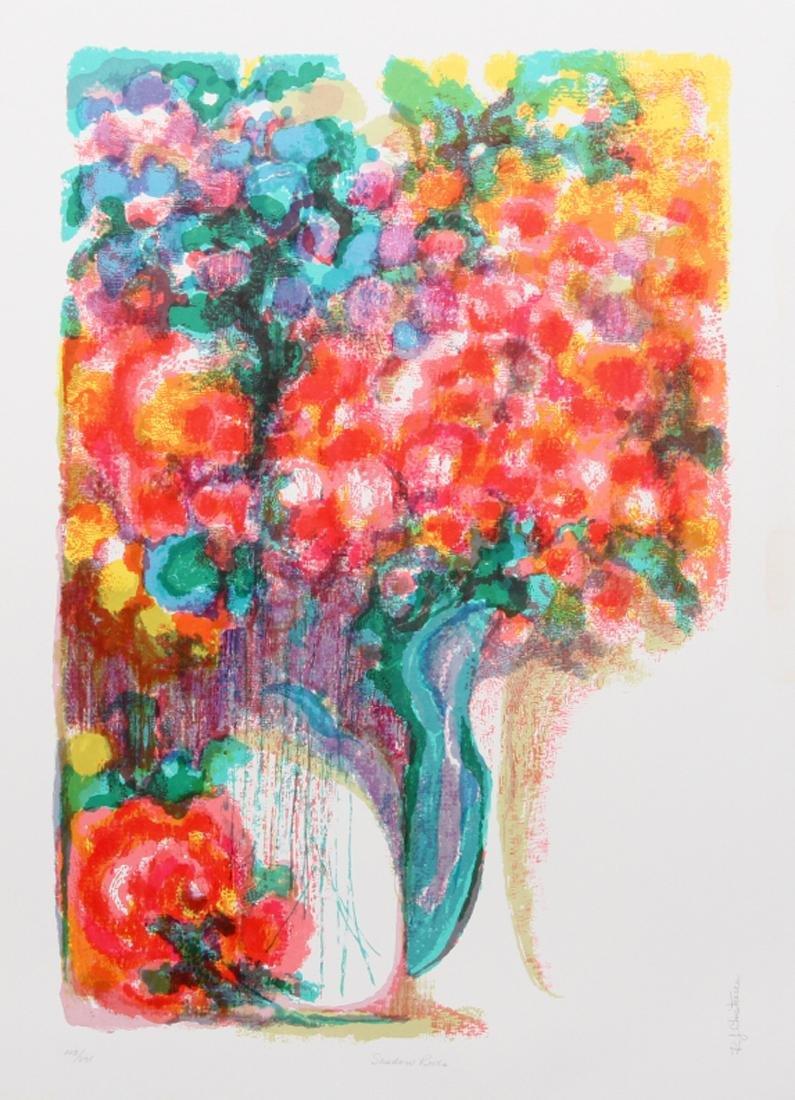 Ronald Julius Christensen, Shadow Reds, Lithograph,