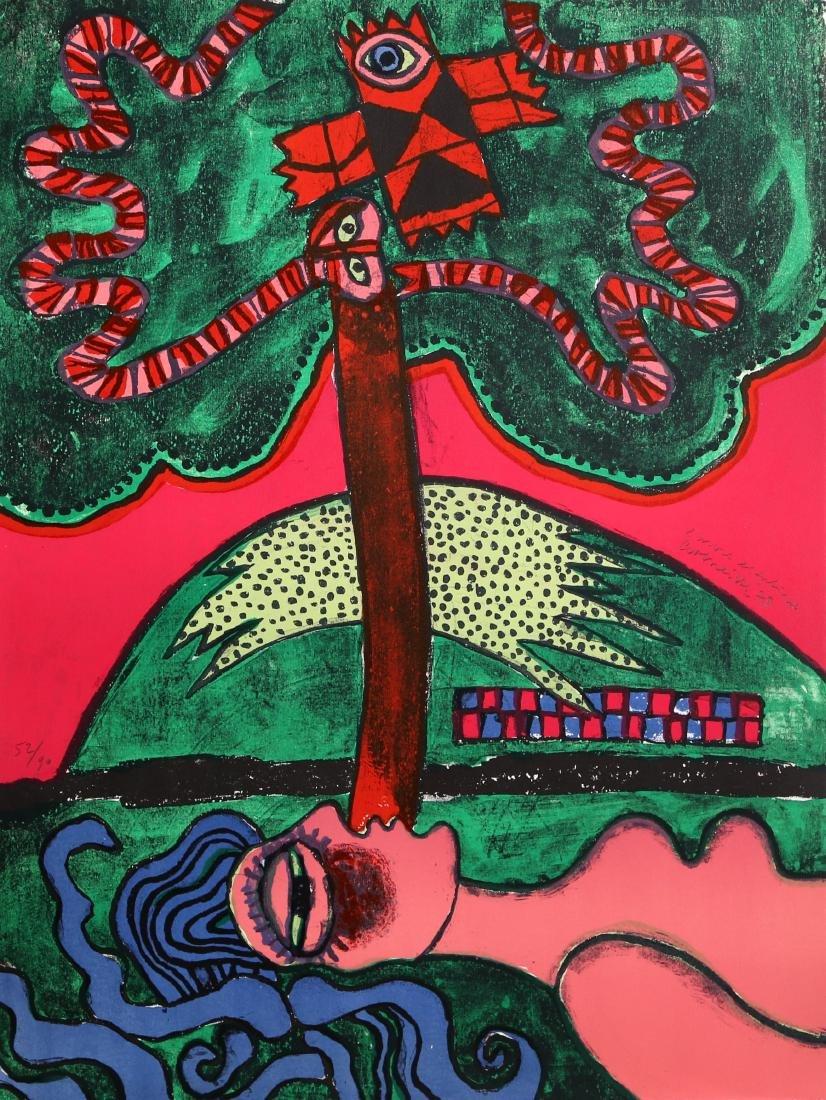 Corneille, L'Arbre Extatique from Homage to Picasso,