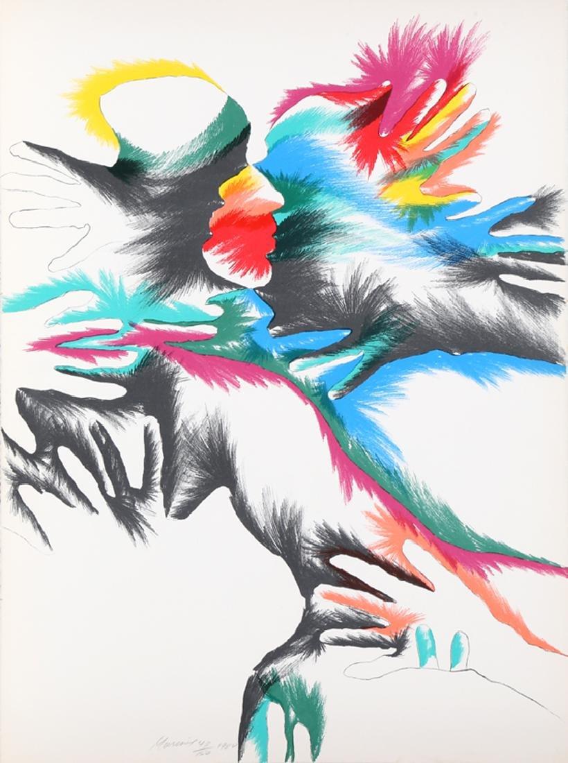 Marisol Escobar, Blackbird Love, Lithograph,