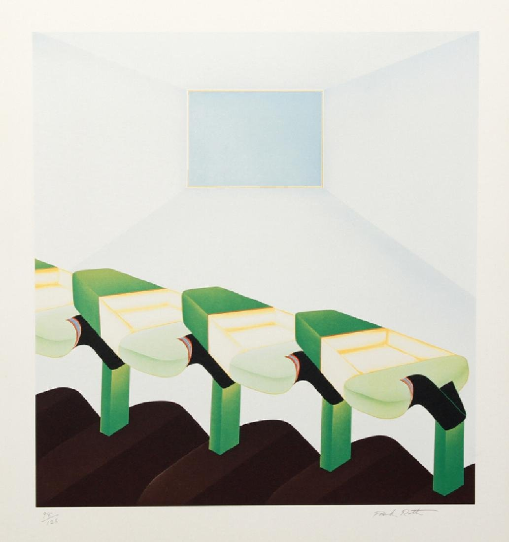 Frank Roth, Untitled - Four Green Shapes in Continuous