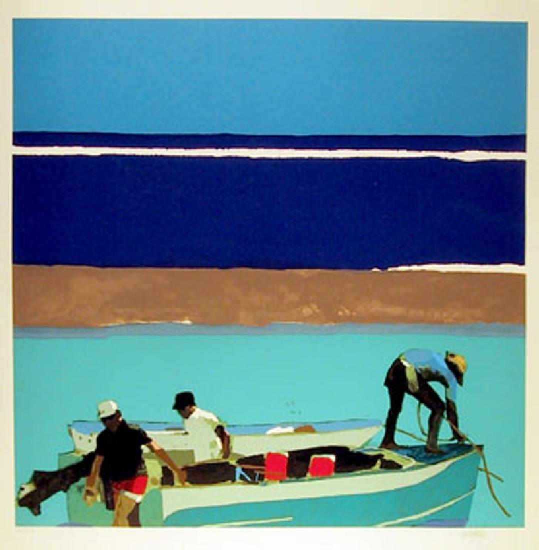 Robert Cunningham, Gulfstream Fisherman, Serigraph,