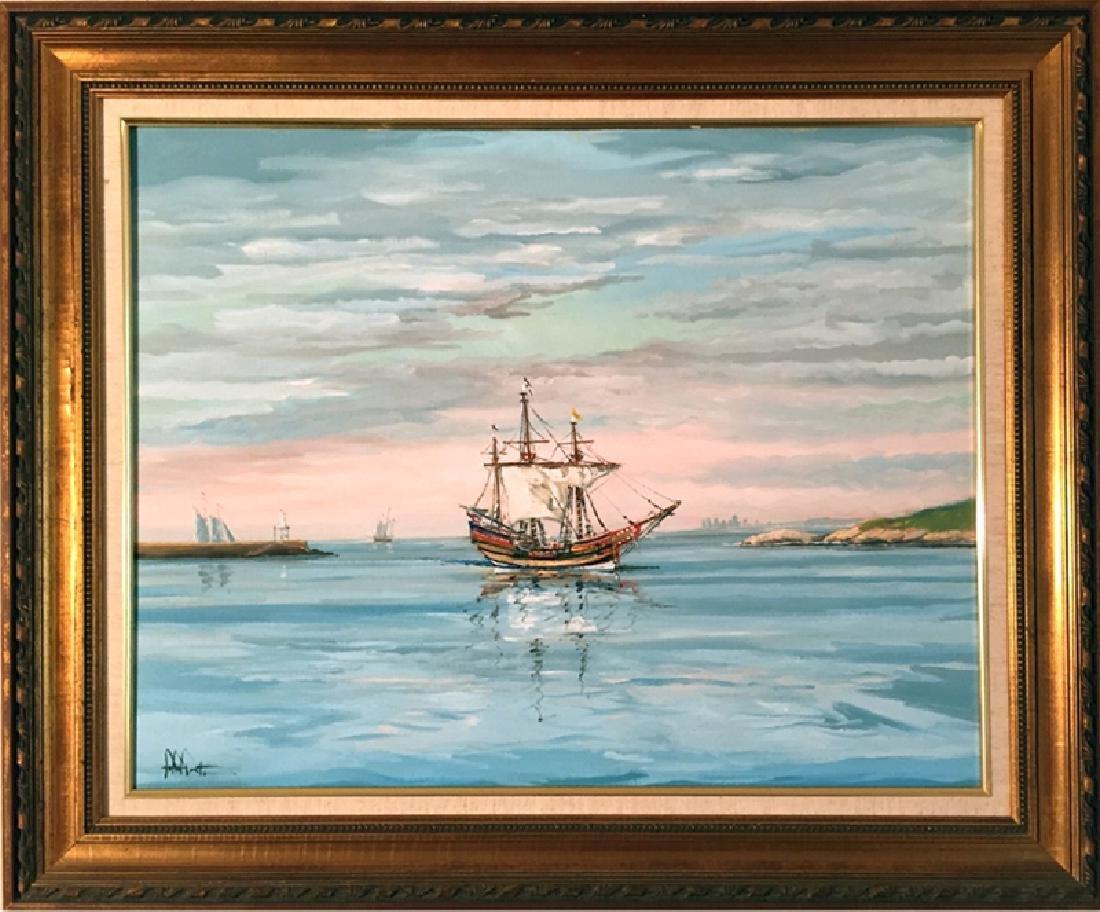 John Nesta, Arbella, Oil Painting, signed l.l.