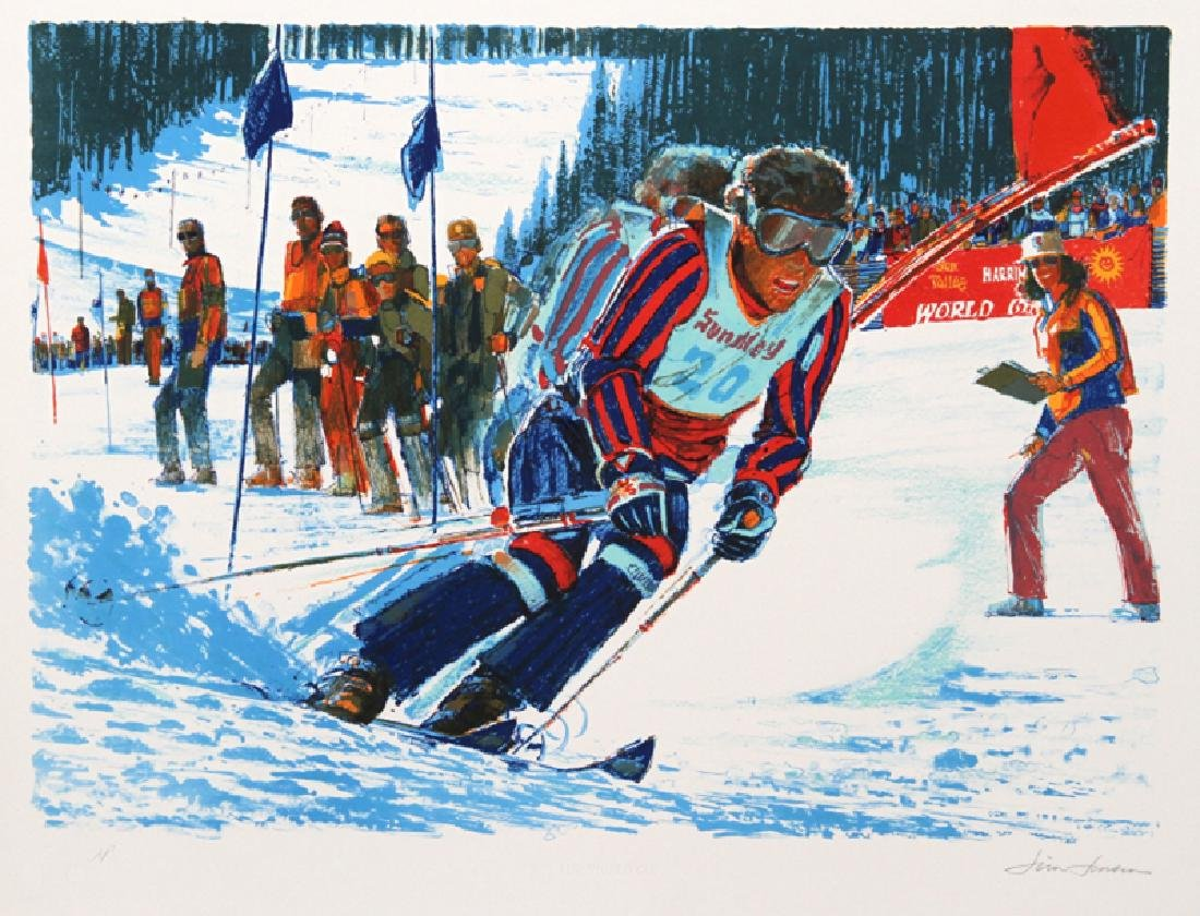Jim Jonson, US World Cup, Lithograph,