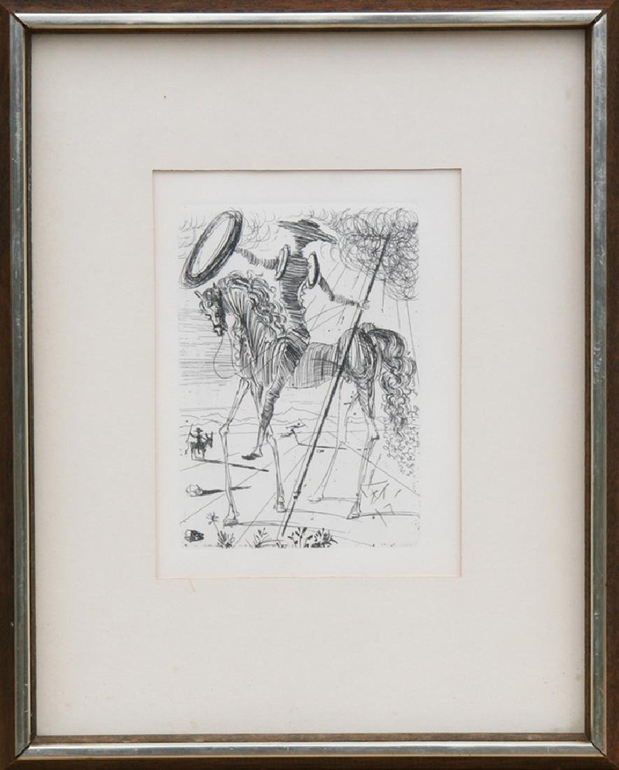 Salvador Dali, Don Quixote, Etching