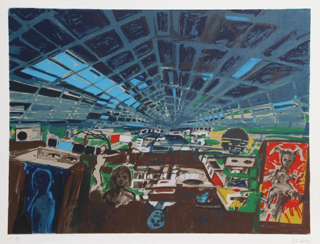 John Hultberg, Greenhouse, Lithograph,