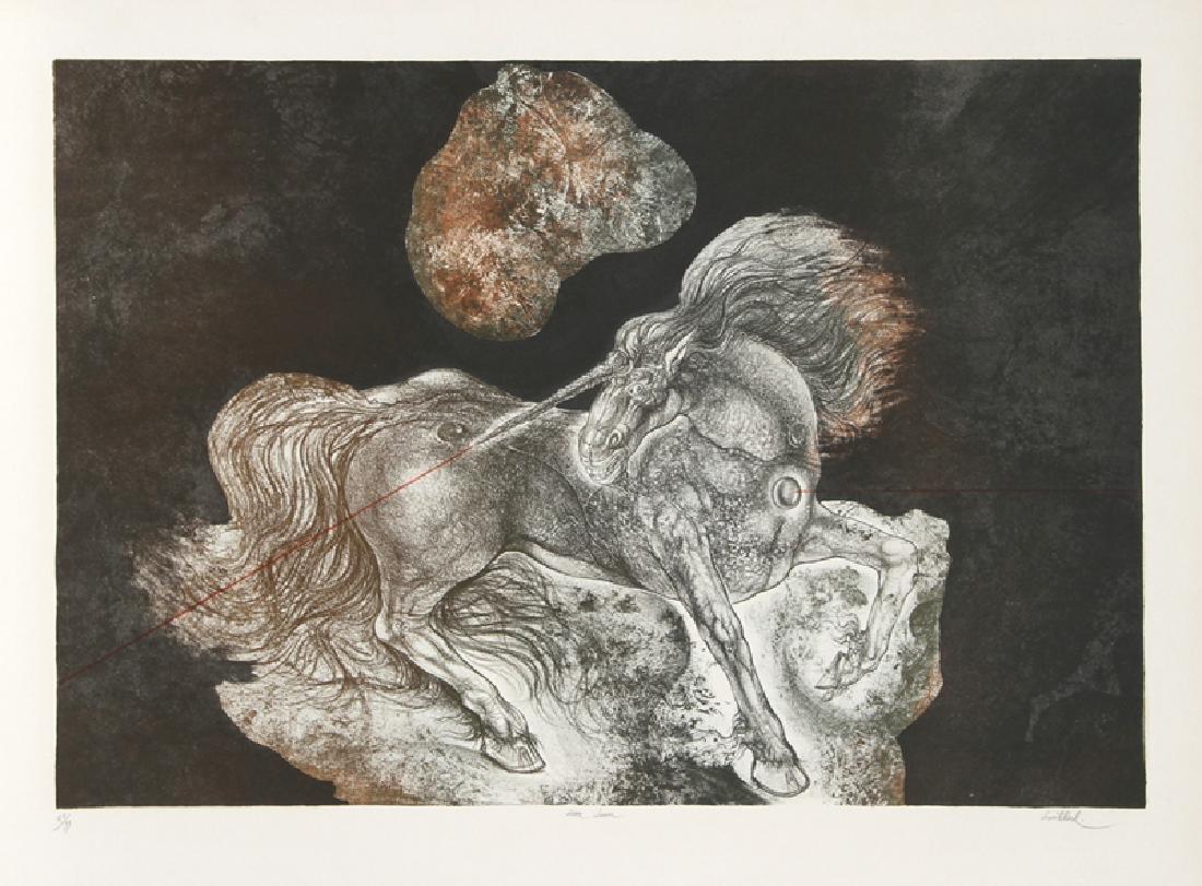 Gerard Lecomte Rard, Licorne Laser, Lithograph,