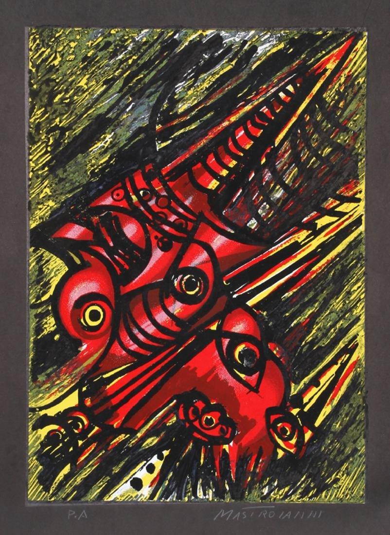 Umberto Mastroianni, untitled , Silkscreen,