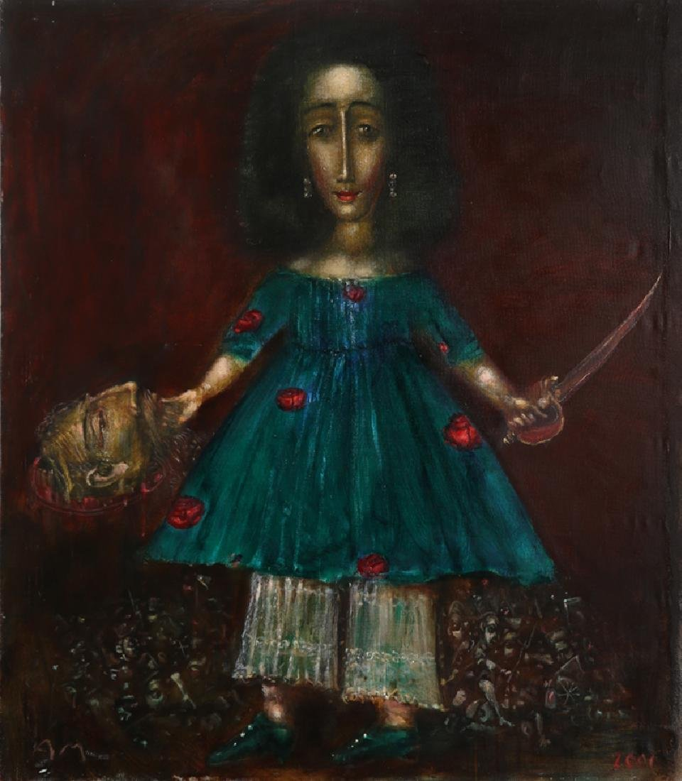 Andrei Medvedev, Judith, Oil Painting, signed l.l.