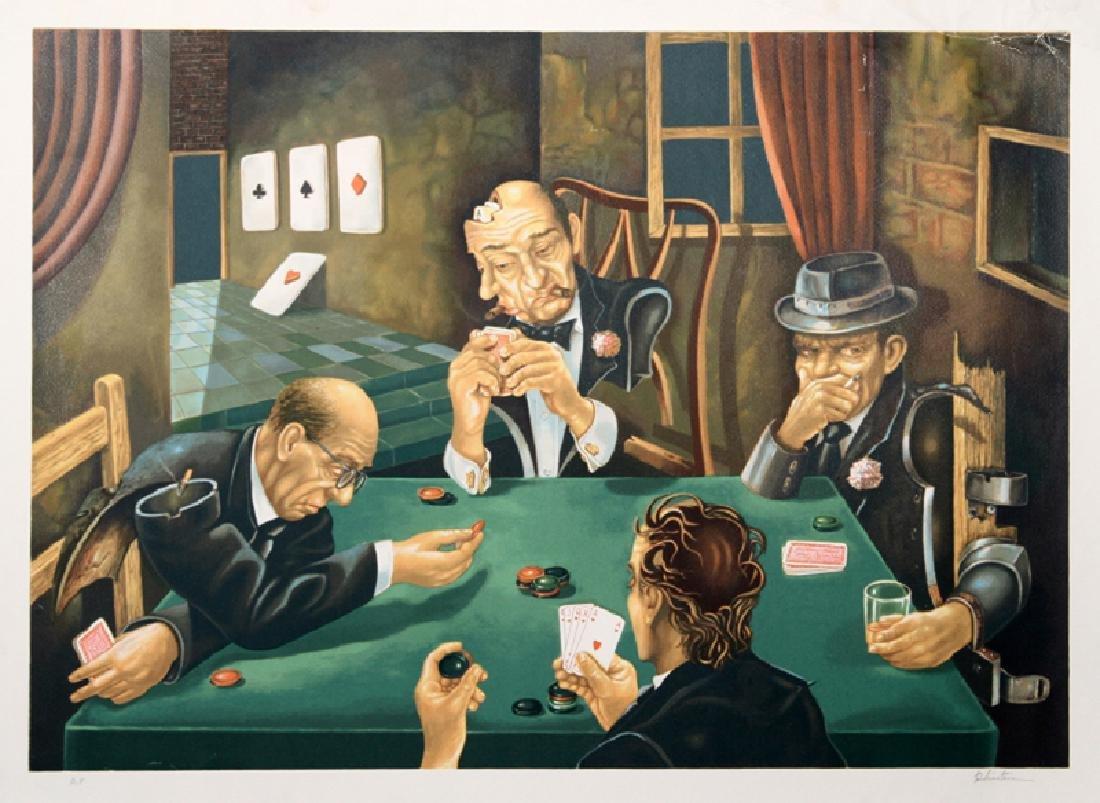 Israel Rubinstein, The Poker Game, Serigraph,