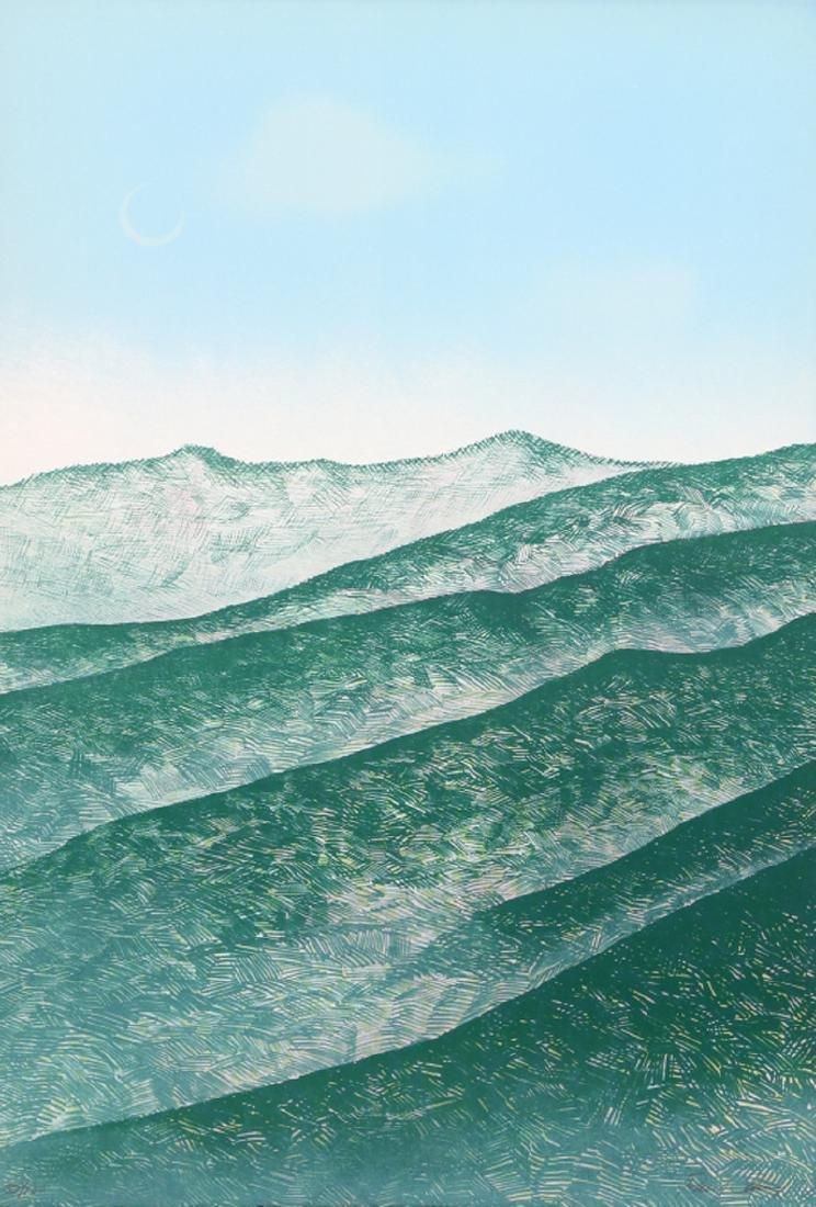 Raul Sanchez, The Hills, Lithograph,